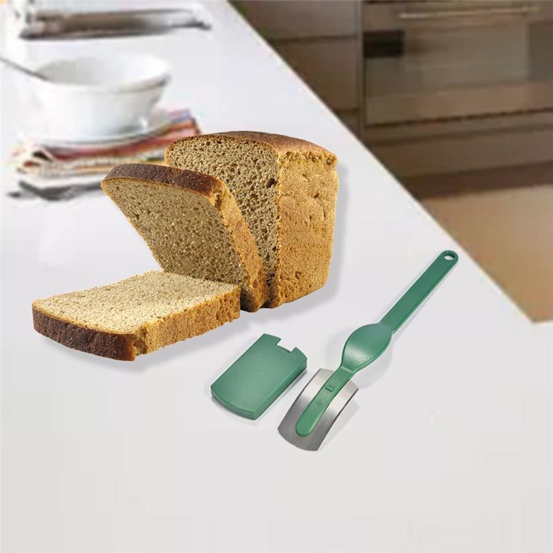 2017 Nieuwe Gebogen Brood Cutter Mes Toast Slicer Bakken Gebak Gereedschap Carbon Steel Blade Abs Handvat Fda