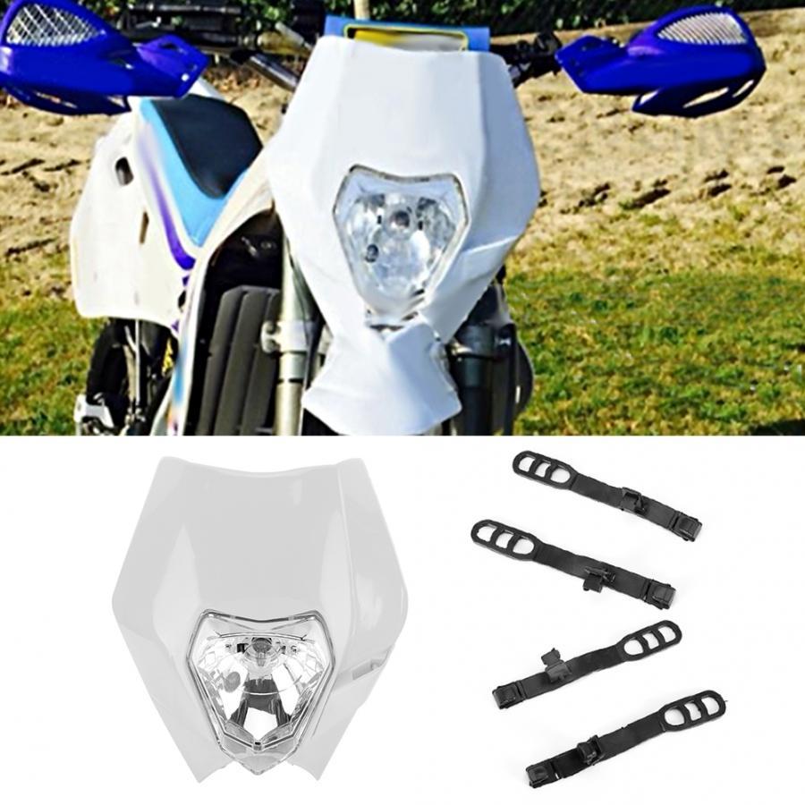 Bombillas de faro delantero de motocicleta Universal máscara de faro Protector de faros para Dirtbike todoterreno