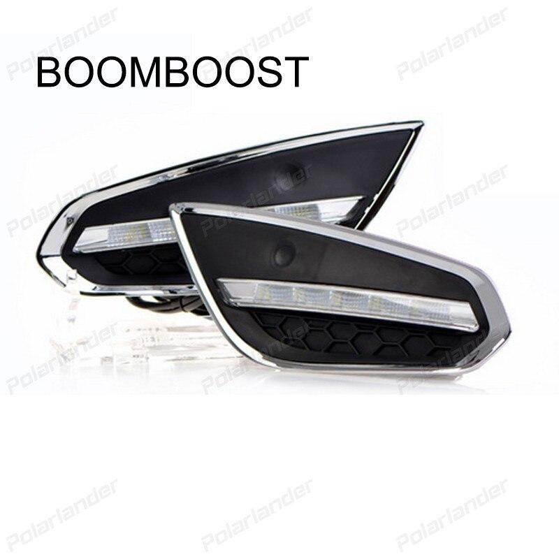 BOOMBOOST ABS Waterproof Car 12V LED Running Light Daylight for Volvo S60 V60 2009-2013 Light-Off