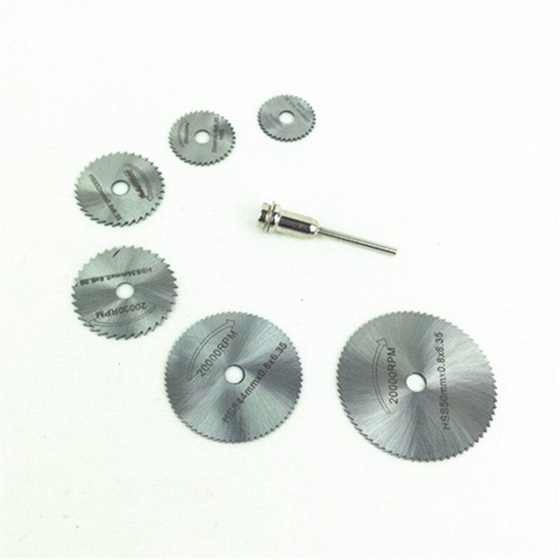 Hoja de sierra HSS 22/25/32/35/44/50/60mm Mini disco de sierra herramientas giratorias para molinillo de Dremel cuttingsoft metal madera plástico fibra de vidrio