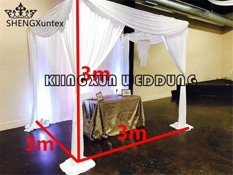 3m * 3m * 3m مكعب الزفاف خلفية ستارة Mandap خيمة زفاف لتزيين حفلات الحدث