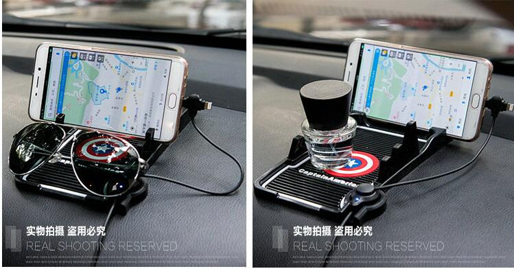 Pegatinas antideslizantes para coche soporte GPS para teléfono móvil para G35 Infiniti G37 I35 M35 M45 Q45 3 Q50 Q60 Q70 Q70L Accesorios