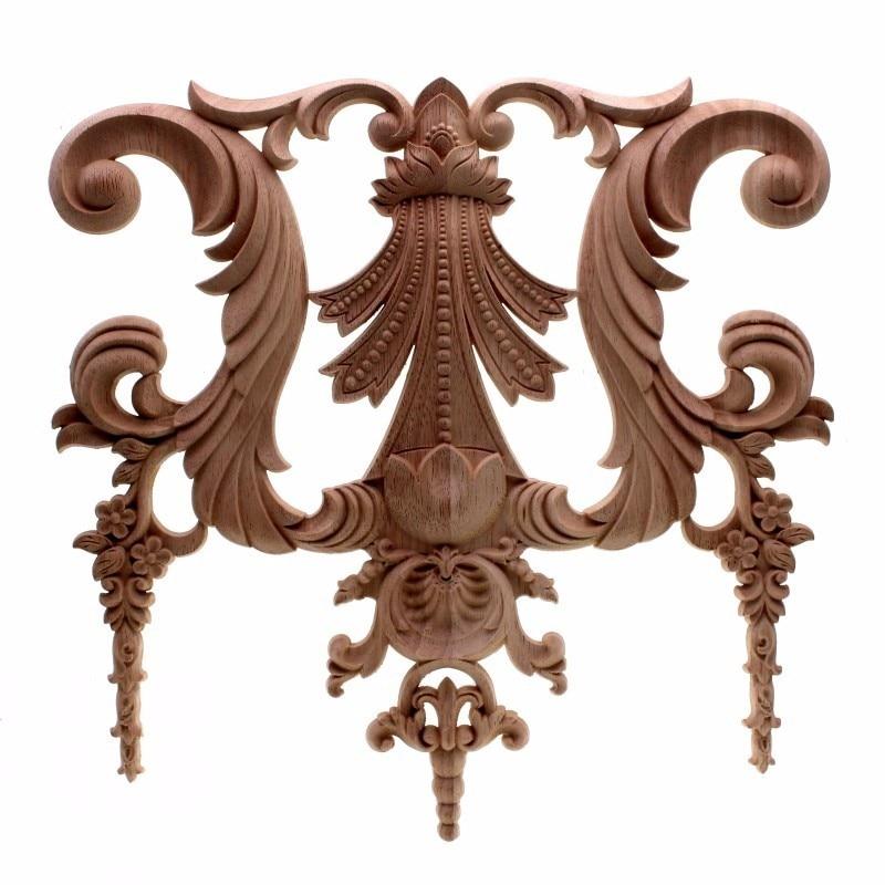 RUNBAZEF tallas de madera de jardín de estilo europeo de pared decoración para muebles de hogar accesorios de decoración estatuilla de miniatura