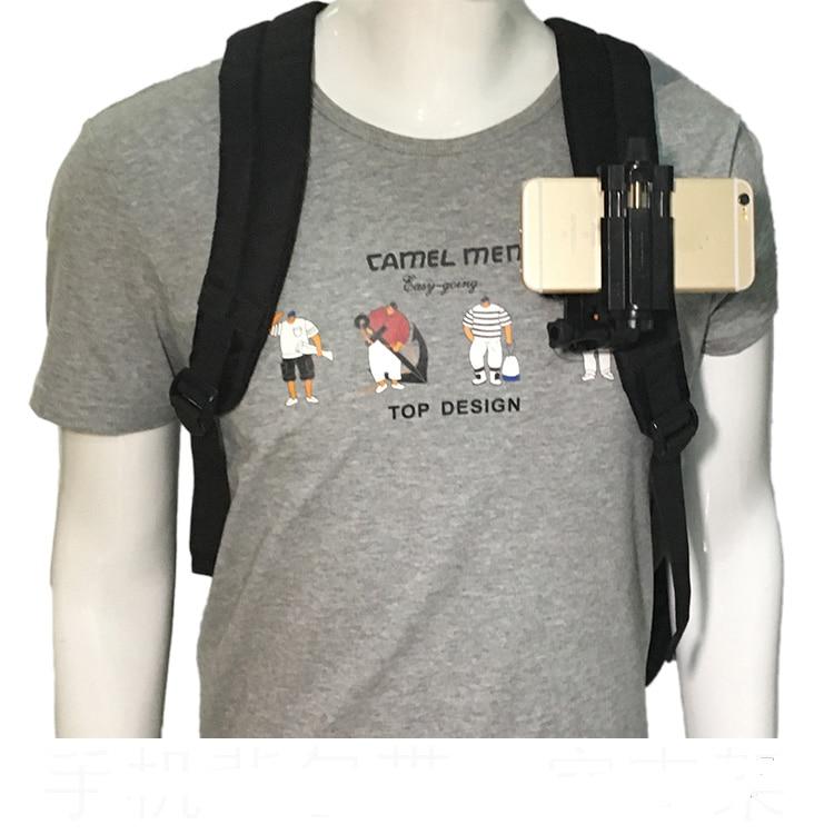 Clip rotatorio de montaje de abrazadera rápida de 360 grados Clip de liberación rápida sombrero de mochila para Gopro xiaoyi Iphone y todos los teléfonos móviles de 3,5-6,8 pulgadas