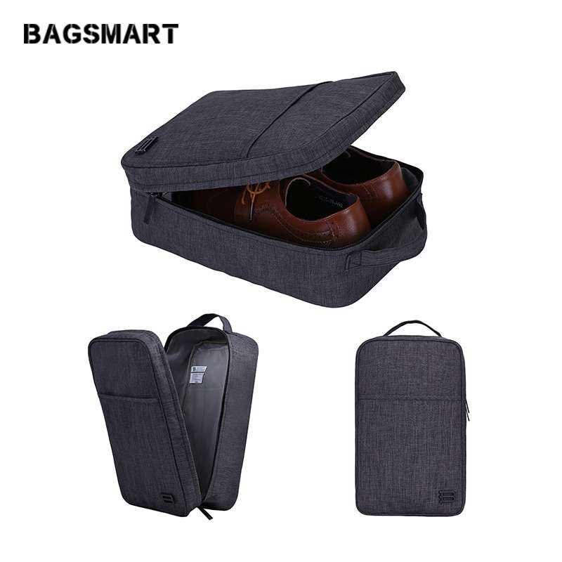bagsmart waterproof black nylon gown garment bag for traveling with handle lightweight suit bag business men ravel bags for suit BAGSMART New Travel Accessories Bag Portable Waterproof Shoes Bag Pouch Pocket Packing Cubes Handle Nylon Zipper Bag for Travel