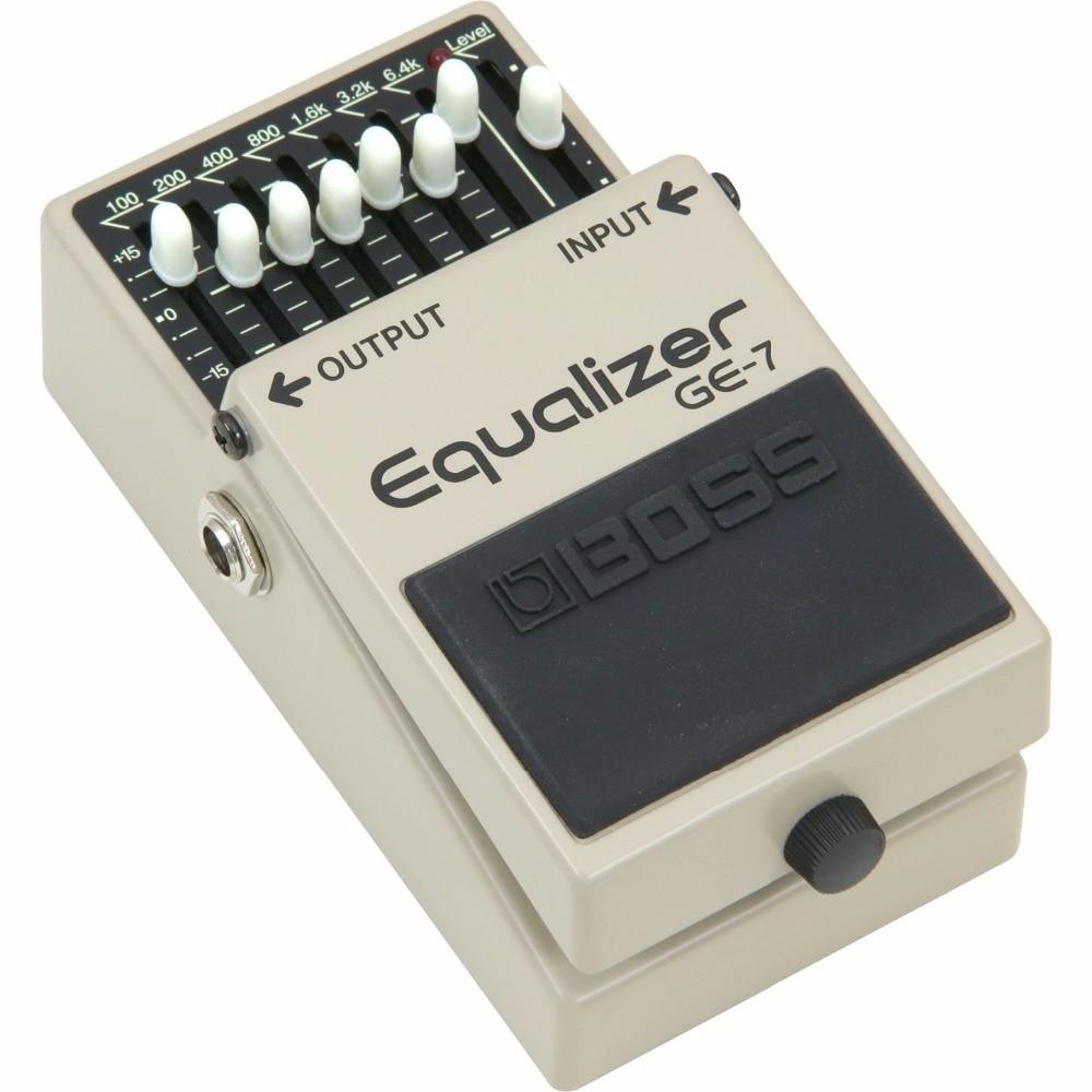 Boss Audio GE-7 7-полосная педаль эквалайзера, 7-полосная гитара с эквалайзером, педаль с бесплатным бонусом