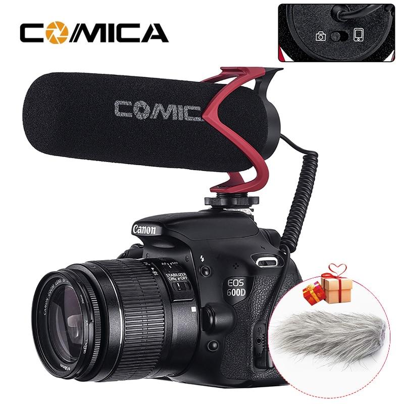 Comica V30 Lite видео Запись голоса микрофон Vlog Shotgun Интервью микрофон для Canon Nikon Sony DSLR iPhone Android смартфон