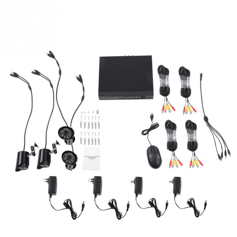 5 En 1 HD 720P 1080N AHD DVR Kit CCTV NVR Video vigilancia cámara de alta resolución profesional IP67 Kits impermeables