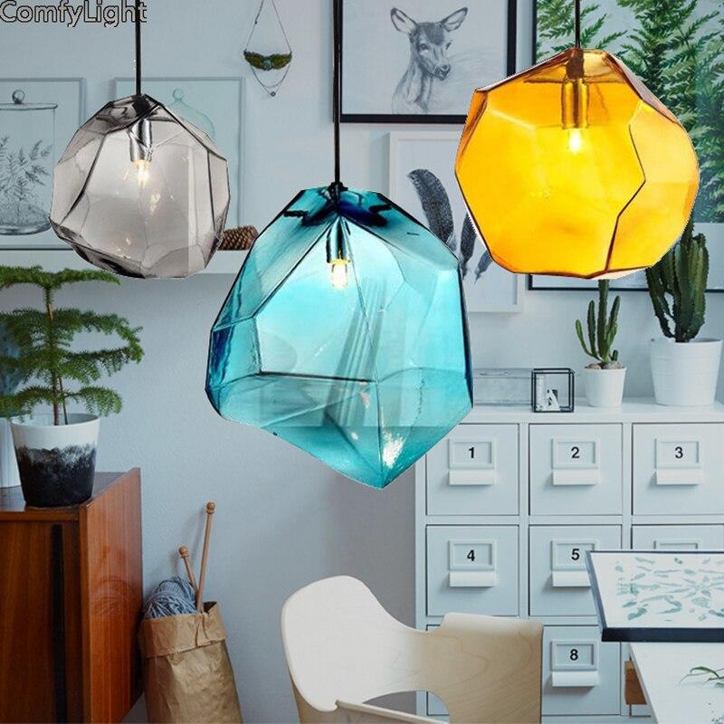 Designer Crystal pendant lamps Warm Light Colorful Light Aisle/Porch/Corridor/Loft luces led Decor ceiling glass hang Lighting