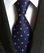 SCST-cravate pour hommes   Rouge, blanc, imprimé Floral, en soie, cravate Slim pour garçons, cravate de mariage pour hommes bleu, Gravata A027