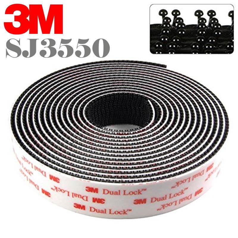 Envío Gratis 25,4mm x 45,7 m 3M SJ3550 cinta autoadhesiva tipo 250 3m negro doble bloqueo
