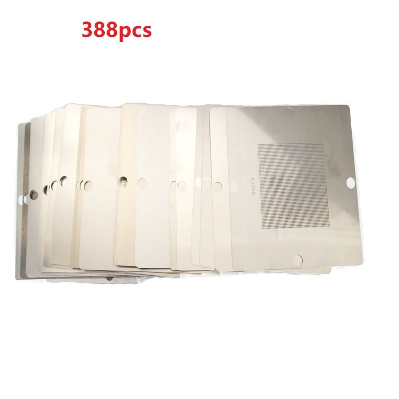 2019 388 pcs bga 스텐실 80*80mm bga 템플릿 80x80mm bga reballing 스테이션 노트북 컴퓨터 노트북 xbox mtk nv ati cpu amd