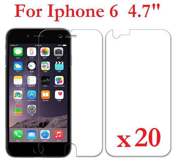 For iPhone 6 6S  4.7 inch Screen Protector LCD High Clear Screen Protector  Front + Back + 20 PCS/Lo