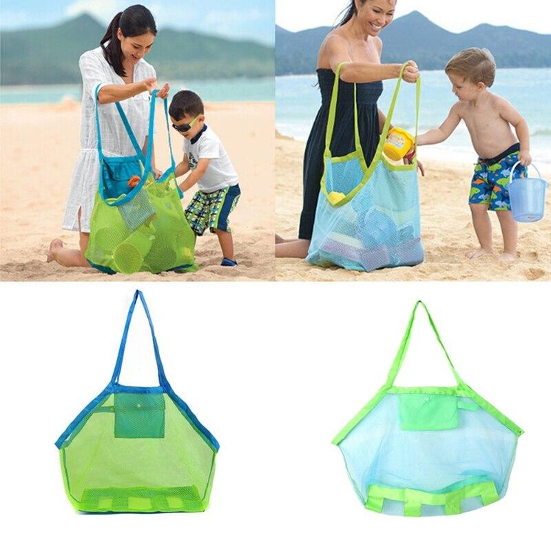 Children Beach Mesh Toys Storage Bag Kids Folding Sand Away Net Tote Outdoor New Net holder Bath Toy