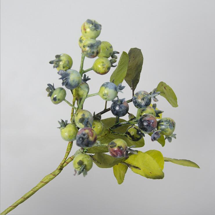Künstliche Granatapfel beeren baum zweige mit blatt gefälschte obst kirsche blumen DIY hochzeit dekoration wohnkultur pflanzen kranz
