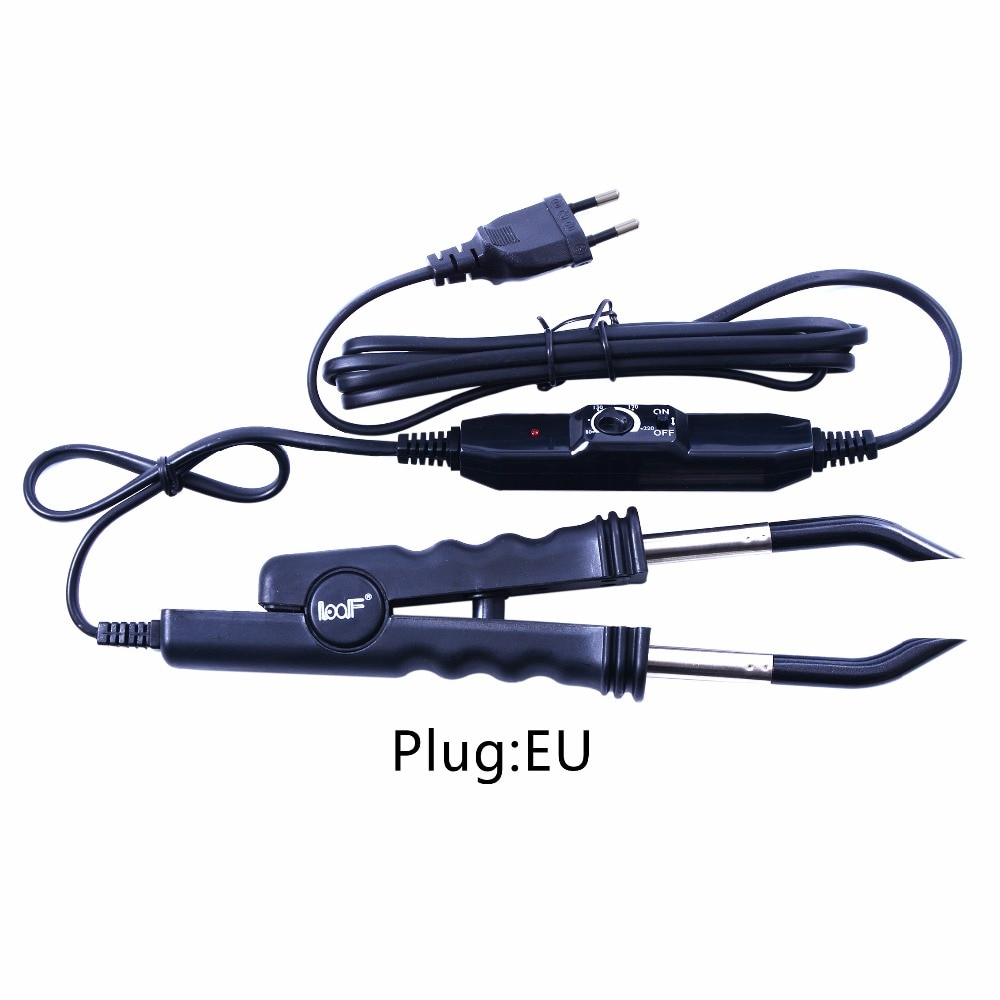 Extensão do Cabelo Conector de Calor + ue Loof Fusão Ferro Queratina Ligação Ferramentas Temperatura Ajustável – Eua Reino Unido au Plug