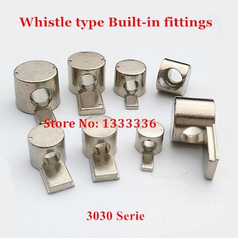 20 piezas Serie 3030, conector integrado tipo silbato, empalme de acero de...