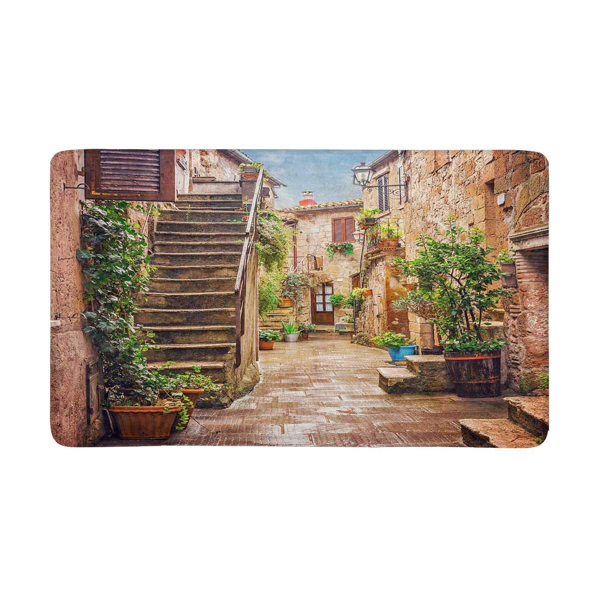 Alley in Old Town Pitigliano Tuscany, итальянский коврик для дома, коврик для входа, коврики для обуви, скребок, дверной коврик, нескользящий домашний декор