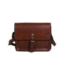 Vintage Simple mujer solapa nueva moda Casual bolsos de hombro de cuero señora bandolera bolso elegante envolvente bolso de embrague