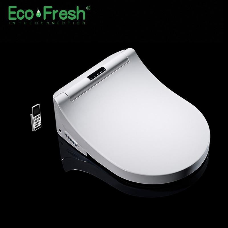 Ecofresh مقعد مرحاض ذكي D-شكل بيديه كهربي غطاء الحرارة مزدوجة فوهة لينة غسل الجاف تدليك صالح الحائط المرحاض