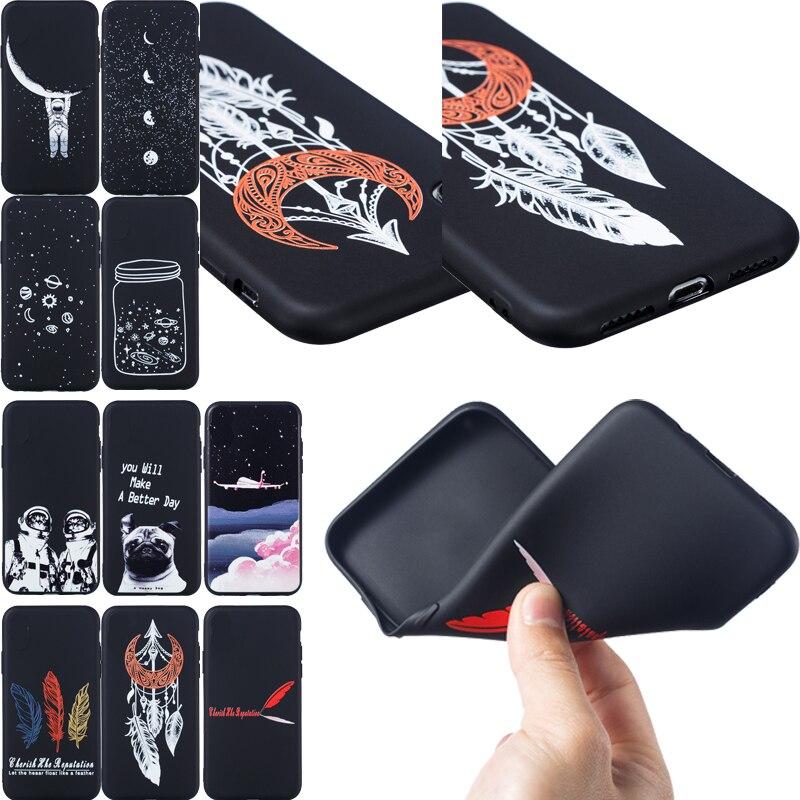 Dream Catcher suave negro TPU Funda de teléfono bolsa de silicona Funda de piel Funda para Samsung Galaxy J3 J5 J7 2017 La UE J2 primer