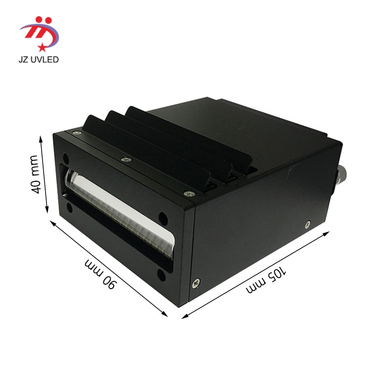 Lámpara UV de refrigeración de ventilador de alta calidad para Nocai Uv impresora plana 395 DX5 Ricoh G4 G5 boquilla ultravioleta impresora LED la luz de la cura.