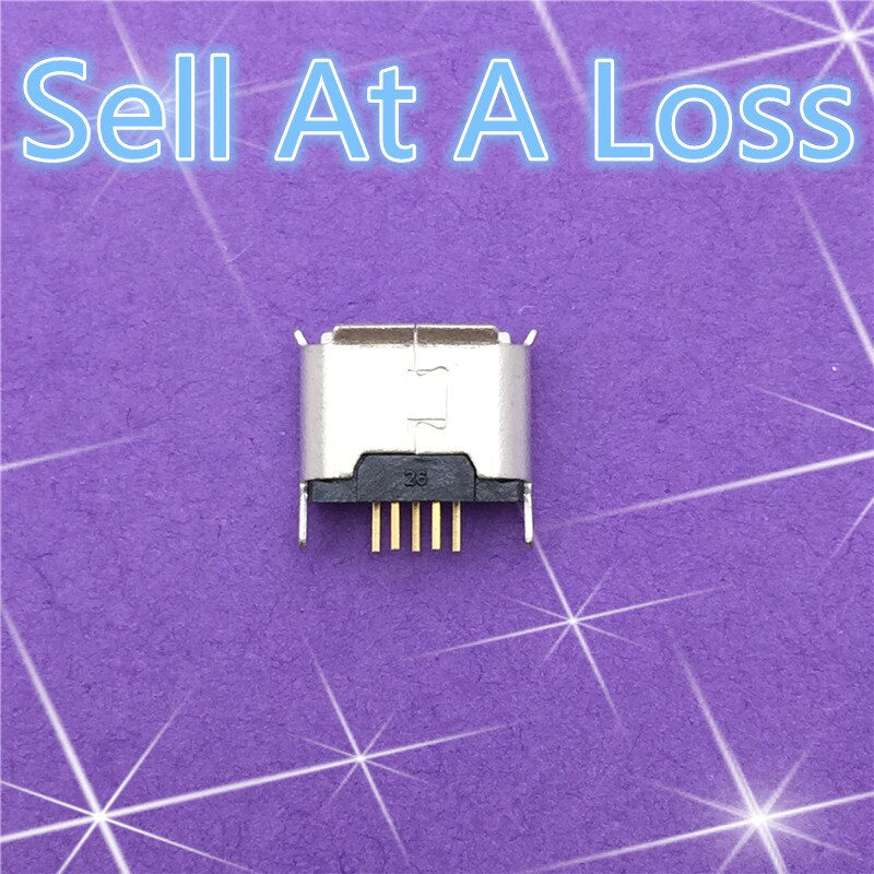 Conector de enchufe hembra de 5 pines Micro USB G24 de 10 Uds. Tipo de enchufe directo para cargar teléfonos móviles de gran calidad, se vende en Estados Unidos