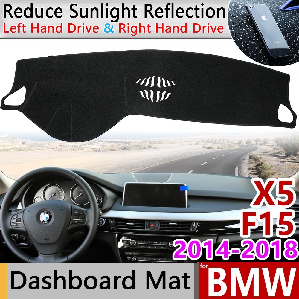Para BMW X5 F15 2014 2015 2016 2017 2018 antideslizante estera almohadilla de la cubierta del tablero estera de protección alfombra accesorios X5M capa alfombra