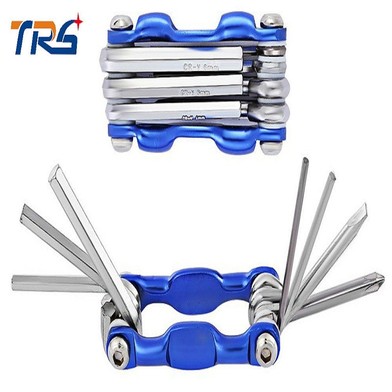 Bike Tool New Wrench Set Folding Hex Key Set Bicycle Tool Combination Tool Allen Wrench Bicycle Repair Kit Conwenience Portable