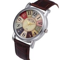 Women Retro Digital Dial Leather Band Quartz Analog Wrist woman Watch brand 2019 New Watches Feminino For Women reloj mujer QC7