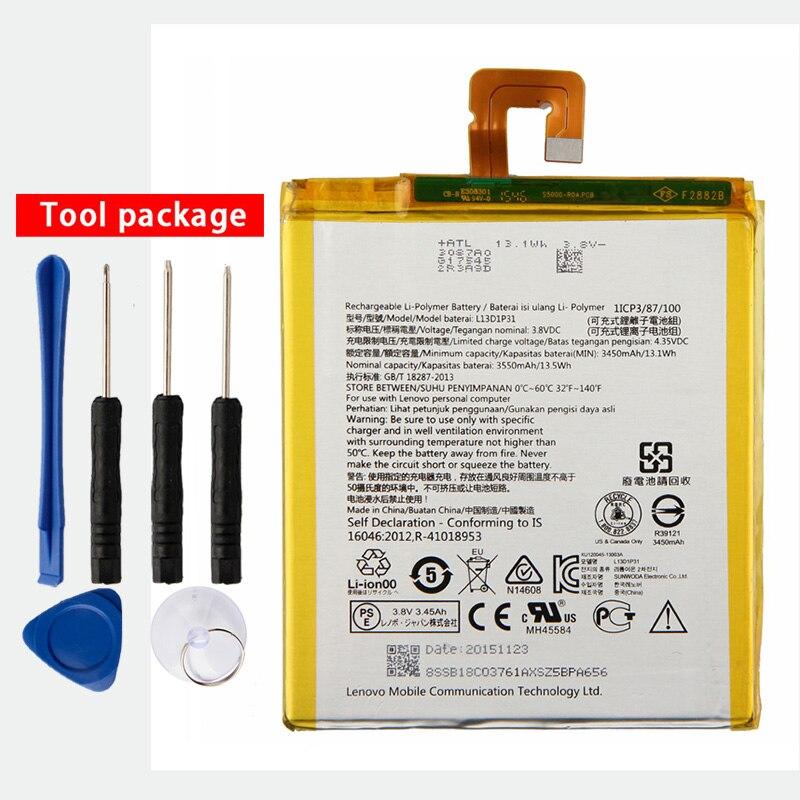 Original de Alta Capacidade da Bateria Para Lenovo Pad S5000 L13D1P31 S5000-H Pad 2 A7-30 A3500 tab Tablet PC 3550mAh