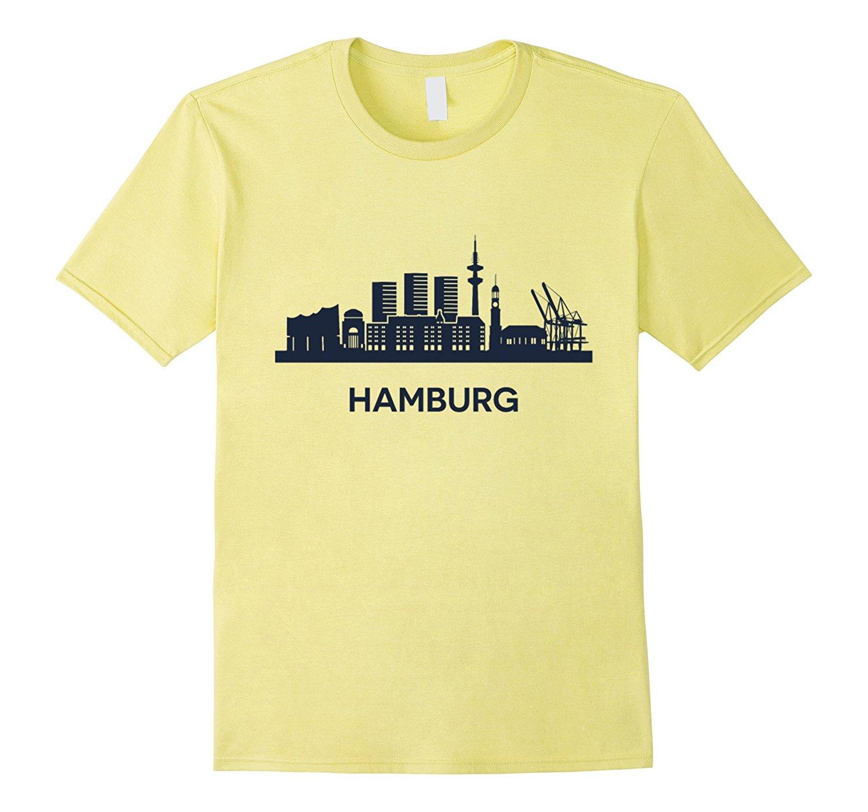 Lo más nuevo de 2019, camisetas Hipster de moda para hombres, camisetas de verano para hombres, camiseta Vintage de Hamburgo, camiseta I Love Germany Fitness