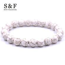 Bracelet blanc Bracelets pour femme Pulseira Masculina hommes Bijoux Feminina Bileklik Bracelet élastique Bijoux Jonc Heren brassard
