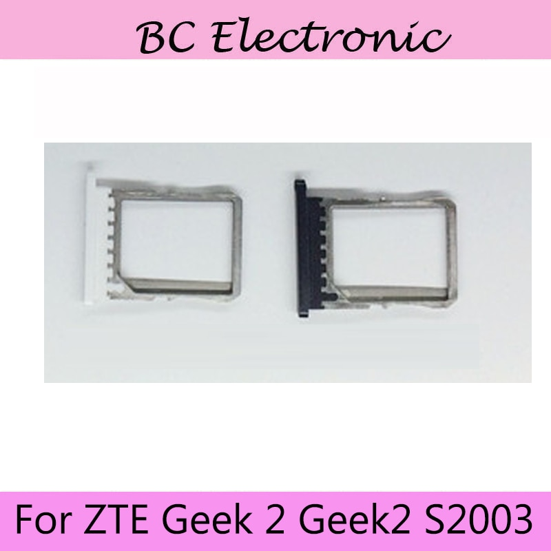 Черный цвет для ZTE Geek 2 Geek2 S2003 Nano Sim + лоток для карт памяти Micro SD, держатель слота, запасные части