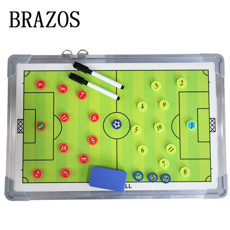 High-End Magnetic Football Training Tactical Board Soccer Coaching Aluminum Football Coach Board Voetbal Training Accesssories недорого