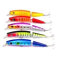5pcs section lure fishing swing minnow 2 segment swimbait crankbait 14cm20g