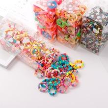 100 unids/lote 3,0 CM bandas pequeñas de goma para niños, banda elástica para el pelo, accesorios para el cabello para niñas