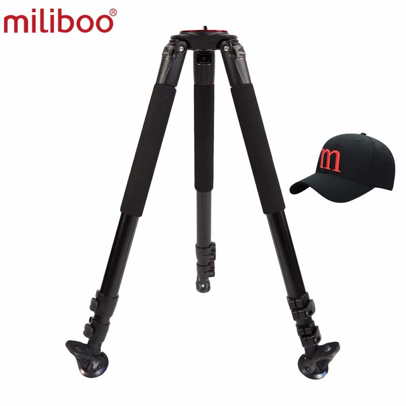 Miliboo MTT703A حامل ثلاثي متنقل 1650 مللي متر الألومنيوم المهنية كاميرا ترايبود دون الكرة رئيس Monopod ل DSLR