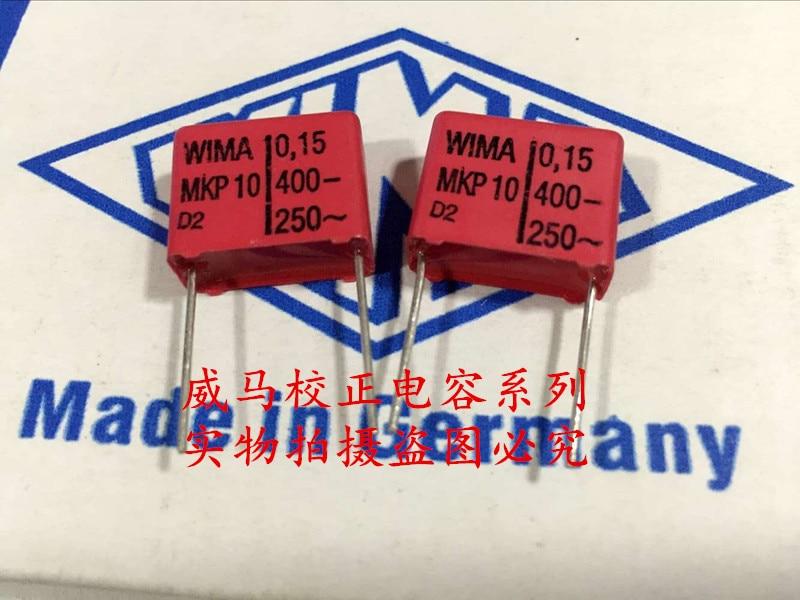 2019 Venta caliente 10 piezas/20 piezas condensador WIMA Alemania MKP10 400V0. 15UF 400V154 150n P 15mm de Audio condensador envío gratis