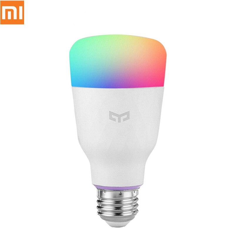 Xiaomi-لمبة إضاءة LED ذكية ملونة E27 ، 10 واط ، 800 لومن ، مصباح ذكي ، هاتف ذكي Xiaomi Mijia ، جهاز تحكم عن بعد Wifi