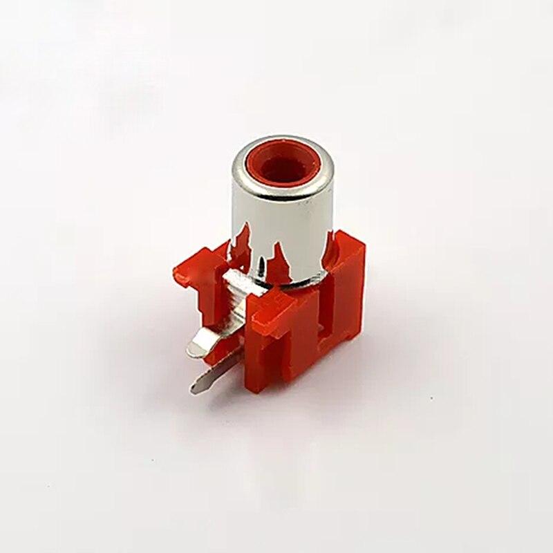 5 pcs-100 pcs Solda RCA Conector De Áudio e Vídeo AV RCA Jack de Áudio Single-buraco AV Com o Plugue Núcleo