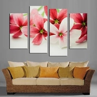 no frame wall painting flower canvas painting home decoration pictures wall pictures for living room modular pictures