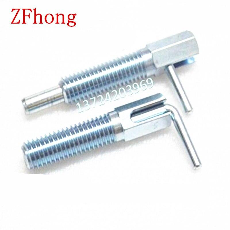 Goupille de verrouillage automatique en acier   Avec zinc M10 M12 M16 L Index de Type piston, broche de verrouillage automatique