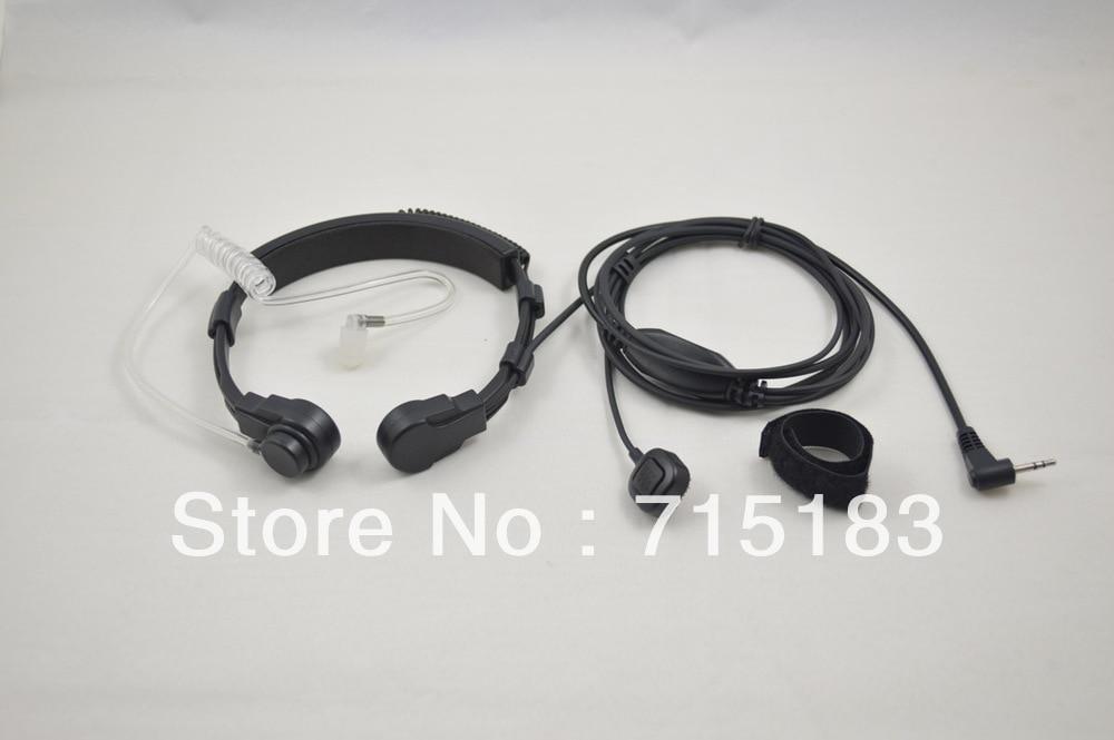 Freeship air tube headset 2.5mm 13mm M2/MT Connector VOX Heavy Duty Throat MIC with Finger PTT for Motorola T5 cb portable radio