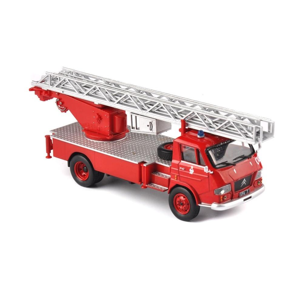 Escala diecast carro pompiers veículos escada caminhão de bombeiros modelo de carro crianças brinquedo