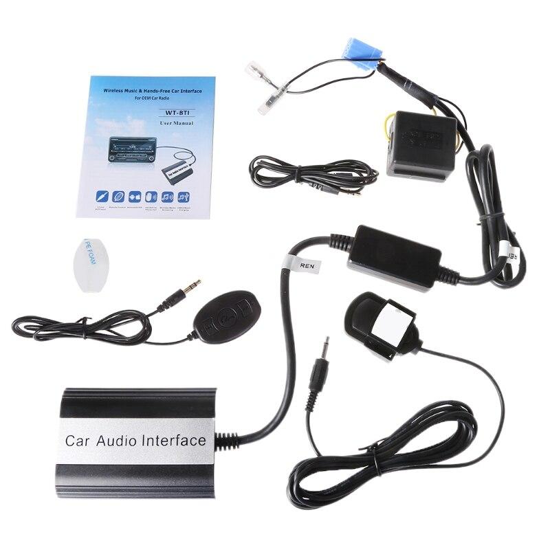 OOTDTY, 1 Conjunto, kit de manos libres con Bluetooth para coche, interfaz adaptadora AUX MP3 para Renault Megane Clio Scenic Laguna
