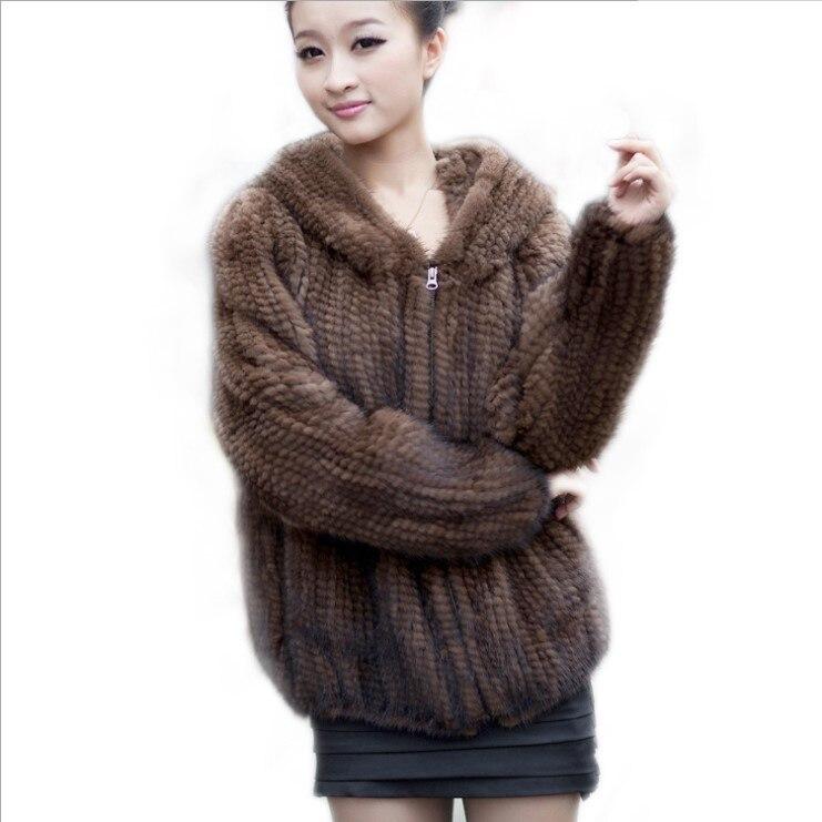 Шуба с капюшоном из норки теплая зимняя шуба меха норки|fur coat|fur womenwinter fur |