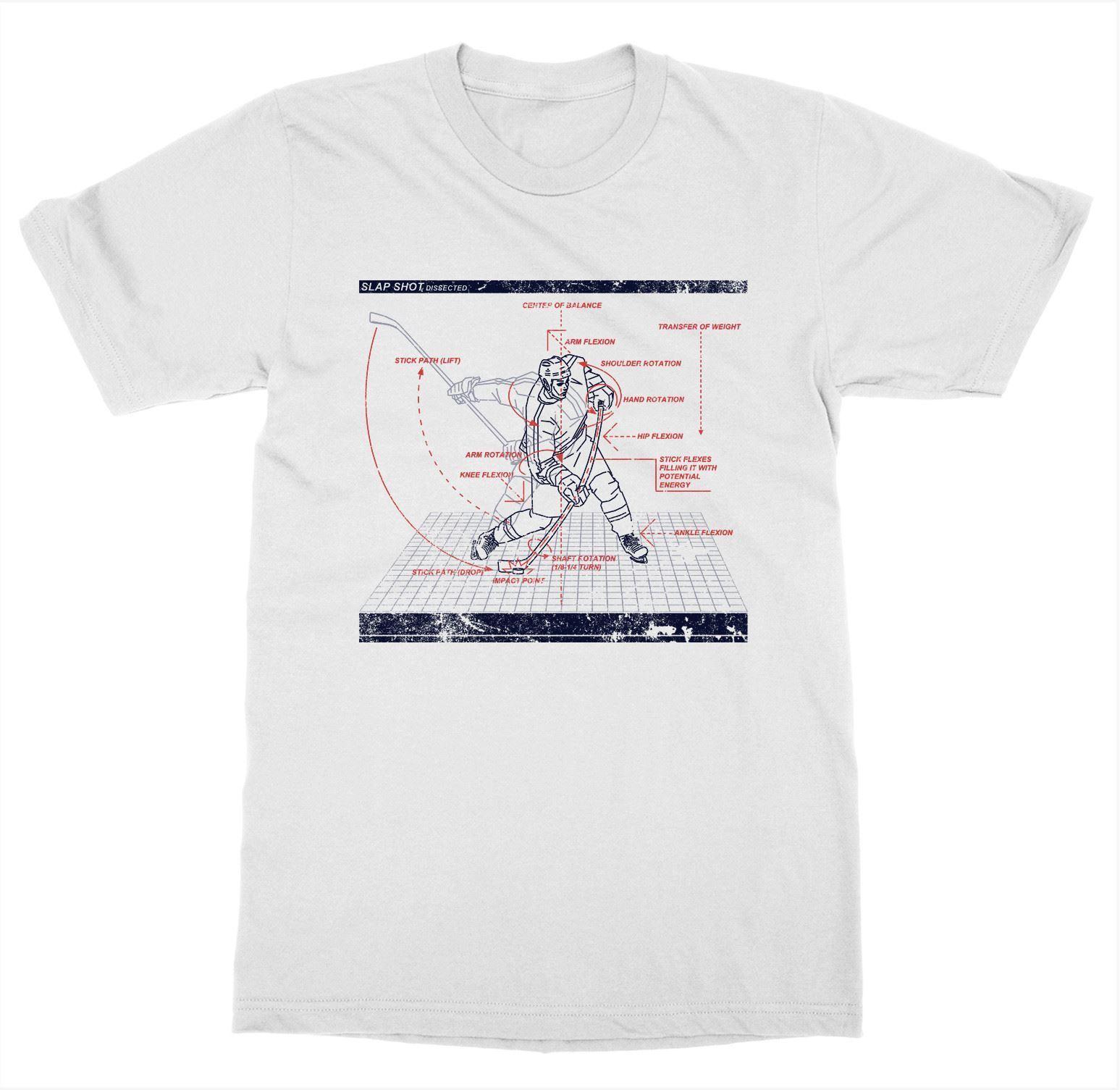 2019 Pop algodón hombre Camiseta Slapshot disected camiseta hockey Goon pista de hielo Skate Playoff árbitro Puckfunny camisetas