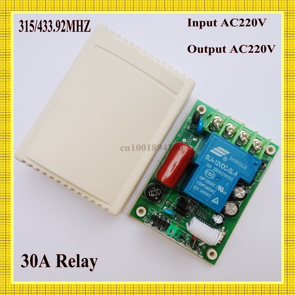 AC 220V 30A de receptor interruptor de Control remoto/315/433mhz código de aprendizaje a casa inteligente B * roadlink TX receptor de luz de la lámpara LED