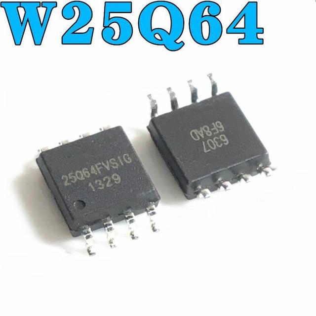 10 unids/lote W25Q64FVSSIG W25Q64FVSIG 25Q64FVSSIG 25Q64FVSIG 25Q64FVS1G W25Q64 25Q64 SOP-8 original en Stock